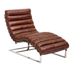 Oviedo Leather Lounge, Vintage Cigar | High Fashion Home - http://www.highfashionhome.com/oviedo-leather-lounge--vintage-cigar.html