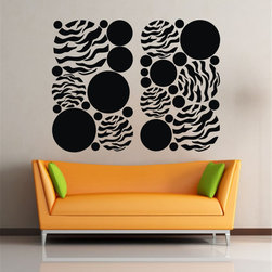 ColorfulHall Co., LTD - Decal Stickers Circles Stream of Consciousness Cool Wall Decals For Home - Decal Stickers Circles Stream of Consciousness Cool Wall Decals For Home
