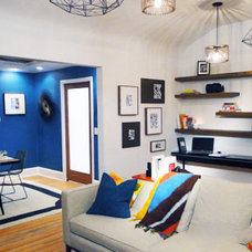 Eclectic Living Room by LETTER FOUR, LLC