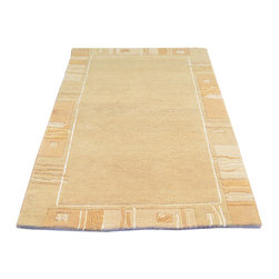 1800-Get-A-Rug - Soft Colors Thick and Plush Nepali Gabbeh Hand Knotted Rug Sh8536 - About Modern & Contemporary