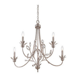 Quoizel - Quoizel WSY5005 Wesley 2 Tier Chandelier with 5 Lights - Decorate your home in style with this tantalizing 5 light 1 tier chandelier.Features: