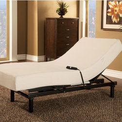 Sleep Zone - Sleep Zone Loft Single Motor Adjustable Bed with Twin XL-size Visco Memory Foam - Give yourself a restful night's sleep with this comfortable Sleep Zone bed and mattress set. With soft memory foam and a durable bed,this set is the perfect way to get some rest.