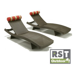 Red Star Traders - Cantina Chaise Lounge Chairs (Set of 2) - Accentuate your patio with the European sophistication and traditional styling of Cantina chaise loungers Patio furniture offers a clean and simple design Chairs make a beautiful addition to any backyard paradise