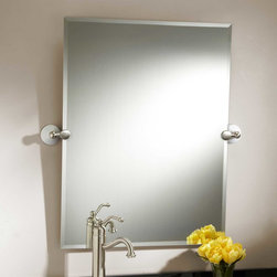 """32"""" Houston Rectangular Tilting Mirror - Complete your bathroom in classic style with the 32"""" Houston Rectangular Tilting Mirror, featuring beautiful beveled glass that angles up and down."""