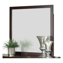 Modus Furniture - Modus Modera Rectangular Mirror in Chocolate Brown - The combination of sleek lines, oversized drawers and quality construction make Madera from Modus the ultimate value statement in bedroom furniture.