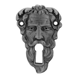 "Inviting Home - Sentinel Escutcheon Rim Lock (antique pewter) - Hand-cast Sentinel Escutcheon Rim Locks in antique pewter finish 2-1/2""H Product Specifications: Made in USA. Fine-art foundry hand-pours and hand-finishes every rim lock using Old-World methods. Lifetime guaranteed against flaws in craftsmanship. Exceptional clarity of details and depth of relief. All rim loacks are hand-cast from solid fine pewter or solid bronze. The term ""antique"" refers to special methods of treating metal so there is contrast between the raised relief and recessed areas.Rim Locks are lacquered to protect the finish.Alternative finishes available."