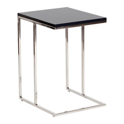 Moe's Home Collection - Moe's Home Posta Side Table in Charcoal - Simple and sophisticated design is well suited for smaller spaces. C-table construction