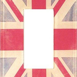 Vintage Union Jack Acrylic Light Switch Plate, Single Rocker - Update your light switches in Olympic style with these switch plates.