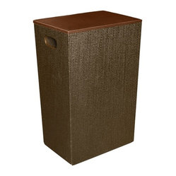Great Useful Stuff - Rattan Hamper by Great Useful Stuff - This sleek rattan container is so sophisticated, at first glance your guests won't even know it's your laundry hamper! Keep your bedroom or closet looking clean and organized with this woven grass cloth textured brown hamper.