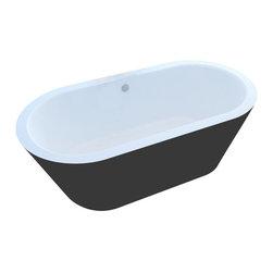 Arista - Rousseau 32 x 65 Freestanding One Piece Soaker Tub with Center Drain - DESCRIPTION