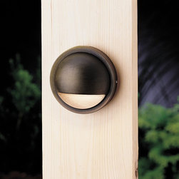 LANDSCAPE - LANDSCAPE 15064BBR Half Moon Outdoor Deck Light - Understated, modern style for deck or patio in a choice of contemporary finishes. Use with matching  path light (KCH-15360-AZT).