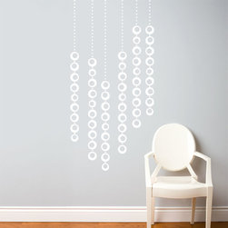 RR - On Sale Moon Pearls in White Wall Decal - Moon Pearls in White Wall Decal