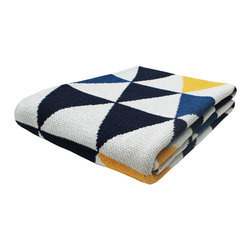 Lazy Sunday Throw Blanket - The Lazy Sunday Throw Blanket adds a warm and comfy look to any room. Made from 80% recycled cotton and 20% acrylic, this handmade throw feels super soft and is versatile enough to drape over the sofa or bed's end. The throw's geometric design and colors make any room feel rich and stylish. This eco-friendly, low-maintenance accent piece can be used year-round for stylish warmth throughout the seasons.