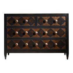 Hooker Furniture - Hooker Furniture Four Drawer Diamond Front Chest - Hooker Furniture - Chests - 515085001 - How do you give your home a personal touch and make it a reflection of your passions and personality? Get started by selecting a unique and original accent as an artistic expression of who you are. With hundreds of accent tables chests curios credenzas and desks to select from at Hooker Furniture, you're sure to find one that delights you.