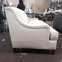 Totally Custom - Elverdon extra high back diamond tufted sofa.
