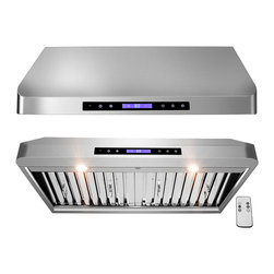 "AKDY - AKDY AG-ZR01 Euro Stainless Steel Under Cabinet Mount Range Hood, 30"" - This AKDY R01 30"" under cabinet range hood removes cooking odors from your kitchen quickly using its 4-speed, 900 cfm centrifugal exhaust fan. The baffle filter helps eliminate grease from the air and is washable for easy cleanup. Model available in 30"", and 36""."
