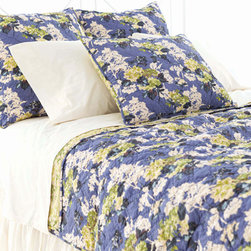 Pine Cone Hill - mamie quilt - Enjoy the arts-and-crafts feel of our farmer's market bedding collection featuring charismatic bursts of color softened by traditional patterns. A bright and cheery mellange of vintage and modern with classic sensibility, this collection mixes soft florals and plush textures to lend a traditional look and feel to decorative pillows, shams and bed skirts. Charming bedspreads and throw blankets finish the bed with casual sophistication.