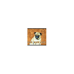 Caroline's Treasures - Fawn Pug Wipe Your Paws Indoor or Outdoor Mat 18 x 27 Lh9456Mat - Fawn Pug Wipe your Paws Indoor or Outdoor Mat 18x27 LH9456MAT Indoor/ Outdoor Floor Mat 18 inch by 27 inch Action Back Felt Floor Mat / Carpet / Rug that is Made and Printed in the USA. A Black binding tape is sewn around the mat for durability and to nicely frame the artwork. The mat has been permanently dyed for moderate traffic and can be placed inside or out (only under a covered space). Durable and fade resistant. The back of the mat is rubber backed to keep the mat from slipping on a smooth floor. Wash with soap and water.