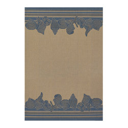 """Couristan - Five Seasons Shoreline Rug 3080/6813 - 2'5"""" x 7'10"""" - The days of boring 'Welcome' mats are over add one of these fresh designs to your front patio and greet guests with a truly welcoming touch. Create a permanent outdoor breakfast nook by using these durable area rugs to complement a bistro table and some cushioned chairs."""