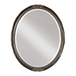 Uttermost - Uttermost Newport Oval Bronze Mirror - Uttermost Newport Oval Bronze Mirror is a Part of Mirrors Collection by Uttermost This beveled, oval mirror is accented by a silver leaf frame with a semi-transparent dark bronze wash. Wall Mirror (1)