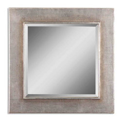 Uttermost - Afton Silver Champagne Mirror - A wall mirror that's both functional and fantastic. Any room in your home can benefit from the addition of this dazzling mirror finished in silver champagne leaf.