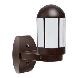 Costaluz 3151 Series Aluminum One-Light Fluorescent Wall Sconce with Bronze Glas