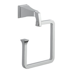 Delta - Dryden Towel Ring in Chrome - Delta 75146 Dryden Towel Ring in Chrome. The clean lines and geometric forms of the Dryden Collection are based on style cues of the Art Deco period.  Getting ready in the morning is far from routine when you are surrounded by a bath that reflects your personal style.  Sometimes accessories make all the difference and that's why Delta offers a variety of bath accessory items.  The simple, yet sophisticated design of the Dryden Collection is available in a full suite of products that's at home in settings from old-world to arts and crafts to modern.Delta 75146 Dryden Towel Ring in Chrome, Features:Wood blocking is preferable behind all wall surfaces