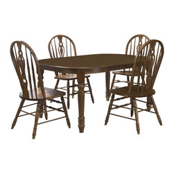 Liberty Furniture - Liberty Furniture Old World 5 Piece 78x40 Dining Room Set w/ Windsor Side Chair - This handsome table is a smart inclusion. A keen design and adaptable fashion make this table an all-inclusive solution to providing looks and utility. With such a versatile form, this table makes an eager addition to any atmosphere. What's included: Dining Table (1), Side Chair (4).