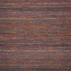 """Loloi Rugs - Loloi Rugs Luna Collection - Black / Multi, 3'-6"""" x 5'-6"""" - Hand made in India, the Luna Collection adds an instant burst of color to any�space in need of a little pick me up. Each durrie piece is artfully hand-woven of jewel toned viscose and soft cotton - an intriguing combination that juxtaposes vibrant colors with subtle tones in a micro checkered pattern.�"""