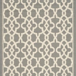 "Safavieh - Safavieh Courtyard CY6071-246 6'7"" x 9'6"" Grey, Beige Rug - Safavieh's Courtyard collection was created for today's indoor/outdoor lifestyle. These beautiful but practical rugs take outdoor decorating to the next level with new designs in fashion-forward colors and patterns from classic to contemporary. Made in Turkey with enhanced polypropylene for extra durability, Courtyard rugs are pre-coordinated to work together in related spaces inside or outside the home."