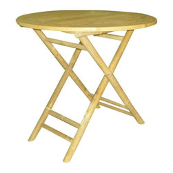 ZEW Inc. - Bamboo Collapsible Round Table - Bamboo Collapsible Round Table