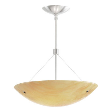 Larkspur Suspension by Tech Lighting - Larkspur suspension has a hand blown slumped glass bowl diffuser embedded with soft, textured pattern and highlighted with metal details. Glass diffuser available in sand, beach amber and surf white. Finish also available in satin nickel and bronze brown.