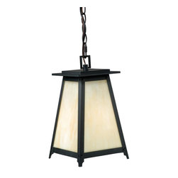 """Vaxcel - Vaxcel T0024 Prairieview 7-3/4"""" Outdoor Pendant - Vaxcel Lighting T0024 Prairieview Outdoor Pendant This product by Vaxcel Lighting is available in an oil rubbed bronze finish. It is offered with tiffany"""