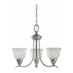 Sea Gull Lighting - 3-Light Chandelier Brushed Nickel (includes bulbs) - 31625BLE-962 Sea Gull Lighting Wheaton 3-Light Chandelier with a Brushed Nickel Finish