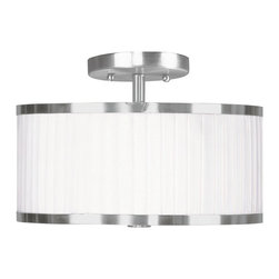 Livex Lighting - Livex Lighting-6363-91-Park Ridge - Two Light Semi-Flush Mount - *Canopy Included: Yes