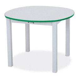 Jonti-Craft - Rainbow Accents Kids Multi-Purpose Round Table with Edge Banding - Color: 16 in. H - Purple.