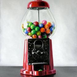 Artwork of Christopher Stott - Bubble Gum Machine  12 X 15