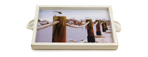 My Méz - Wickford Pilings/Wall Art with Rope Handles - It's a tray; It's wall art. It's BOTH, and It's Made In the USA!