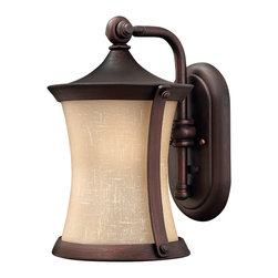 Hinkley Lighting - Thistledown Wall Outdoor Lantern - This shapely outdoor lantern will light your door with an inviting, warm glow. The modern etched glass is perfectly complimented by the hand-painted Victorian Bronze finish of the frame.