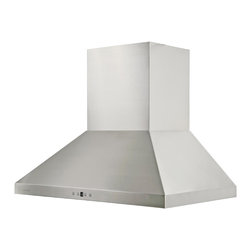 "Cavaliere - Cavaliere AP238-PSF 42"" Wall Mounted Range Hood - Cavaliere Stainless Steel 230W Wall Mounted Range Hood with 6 Speeds, Timer Function, LCD Keypad, Stainless Steel Baffle Filters, and Halogen Lights"
