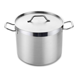 Cooks Standard - Cooks StandardProfessional Grade Stockpot with Lid, 20-Quart, NC-00330 - What's in a box: 20QT (Quart) Stockpot with Lid, Cooks Standard Professional Grade Stainless Steel Stockpot with Lid, Heavy-Duty, 18-8 Stainless Steel, Induction Ready, 3-PLY bottom with 5MM thick aluminum core.