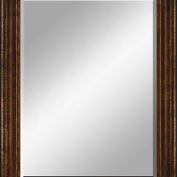 Paragon Decor - Beveled Mirror, Thick Ribbed Dark Wood, 30x40 - Mirror, Mirror, on the wall, who's the most beautiful mirror of them all? Reflect your impeccable taste with this traditional-style mirror, which features a gorgeous thick ribbed dark wood frame and high-quality interior beveled mirror. This piece measures 39 inches wide, 2 inches deep, and 49 inches high.