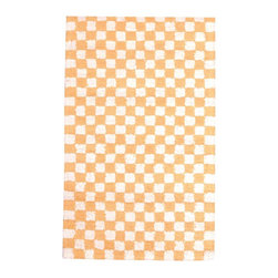 Renovators Supply - Carpet Runners Yellow/White Cotton Hooked Checked Runner 30 x 96 - Checkered Rug Runner. All cotton rug soft, thick and durable. Country checkered rug style for a casual feel. Latex protective backing, not reversible. Lightly vacuum, do not dry clean. Chemicals may damage latex backing. Hand-woven in India.