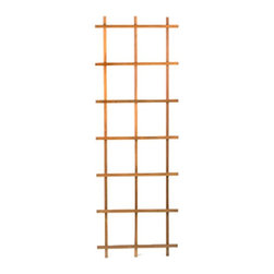 Traditional 6 Ft Ladder Trellis - Heartwood (Set of 2 Each) - Have you ever taken a 6 foot trellis through the checkout at a retail store only to find that you must borrow your brother-in-law's pickup truck to get it home?  Outerior Décor Products has solved this problem with its unique ready to assemble trellis.  Our traditional trellis can be assembled in less than 10 minutes using no tools and is sturdier than the stapled trellis generally found in local retail stores.