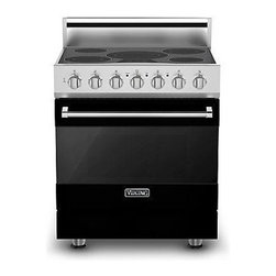 """Viking 3 Series 30"""" Electric Self Clean Range, Black 