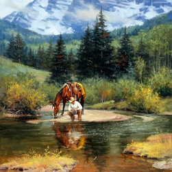 Murals Your Way - High Lonesome Wall Art - Painted by Jack Sorenson, the High Lonesome wall mural from Murals Your Way will add a distinctive touch to any room