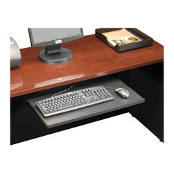 Sauder - Sauder Via Keyboard Shelf in Soft Black - Sauder - Keyboard Accessories  - 401527 - Sure lots of office and home furnishing manufacturers can help you create an organized comfortable and fashionable place to live. But Sauder provides a special kind of furniture that is practical and affordable as well as attractive and enduring. As North America's leading producer of ready-to-assemble furniture we offer more than 500 items that have won national design awards and generated thousands of letters of gratitude from satisfied consumers.