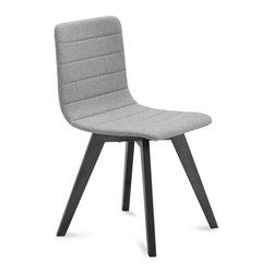 Domitalia - Flexa-LX Chair - Light Gray Wool - Anthracite Finish - Set of 2 - The Flexa-Lx Chair is simple by design, drawing attention to the details which give this piece its lasting quality. A fully upholstered seat boasts a quilted finish, wrapping the wool covered shell in horizontal lines. The clean lines and natural finish of the chair's Ashwood base offers a dynamic contrast to the gray seat upholstery. Whether used in the dining room or for extra office seating, the Flexa-LX Chair readily enhances a wide range of modern interior designs. Sold as a Set of 2.