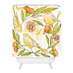 DENY Designs - Cori Dantini Happy Family Single Shower Curtain - Who says bathrooms can't be fun? To get the most bang for your buck, start with an artistic, inventive shower curtain. We've got endless options that will really make your bathroom pop. Heck, your guests may start spending a little extra time in there because of it!