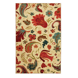 "Mohawk Home - Strata Select Strata Beige Transitional Paisley 20"" x 2'10"" Mohawk Rug (58110) - Brighten your decor with this colorful floral and paisley pattern. Vibrant and charming in hues of pinks and blues this rug is sure to update and add pizzazz to your decor.Polyester/Latex Backing"